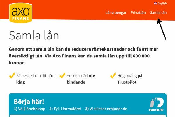 AXO finans samla lån
